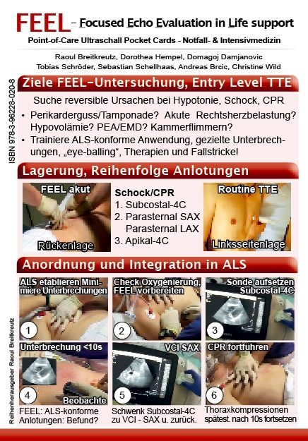 FEEL - ALS-konforme Echokardiographie - Pocket Card, 8-seitig